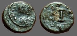 Ancient Coins - Justinian I AE14 Decanummium Nikomedia