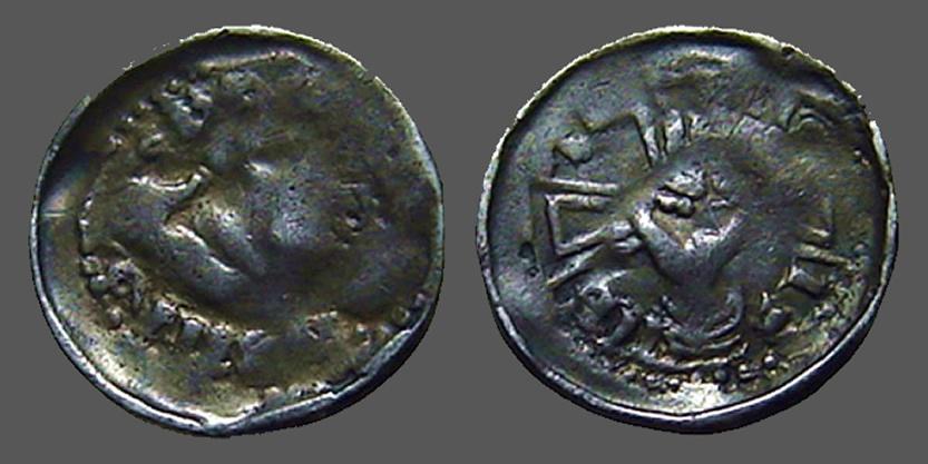 World Coins - Austria AR14 silver pfennig Cross with hand making symbol