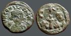 Ancient Coins - Constans II AE19 Half Follis Carthage.  Large cross dividing C-T and X-X