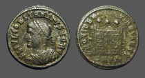 Ancient Coins - Constantine II AE3 Campgate.  Antioch, Turkey