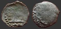 Ancient Coins - Bulgaria. Ivan and Theodora AE18 trachy.  Monogram.   AD 1331-1371.