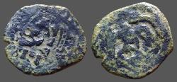 World Coins - Spain AE21 4 Maravedis restruck & tarrifed to 8 Maravedis, time of Philip II-IV