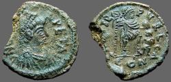 Ancient Coins - Leo I AE2 (20mm) Leo w. foot on captive, holds standard   Cherson
