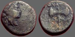 Ancient Coins - Thyatira, Lydia AE16 Apollo / Labrys