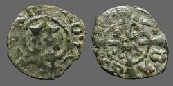 Ancient Coins - Aragon. Jaime I, 1/2 Billon Dinero. Cross w. pellets.