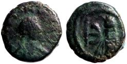 Ancient Coins - Justin I AE Pentanummium, Tyche of Antioch in shrine, Antioch