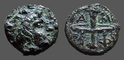 Ancient Coins - Macedonia, Amphipolis AE10 Male hd / Race Torch