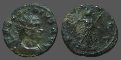 Ancient Coins - Claudius II Gothicus billon antoninianus.  PAX AVG, Pax stg left holds branch & transverse sceptre