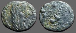 Ancient Coins - Constantine the Great AE16 Veiled Bust / Constantine in quadriga to heaven.