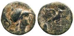 Ancient Coins - Phrygia, Apameia AE22 Athena / Eagle w. caps of Dioskuri