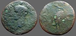 Ancient Coins - Agrippa AE30 As  Neptune