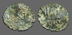Ancient Coins - Carlos I AE Dinero of Navarra.