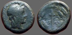 Ancient Coins - Elaia, Aiolis, AE16 Hd of Demeter right, wearing grain wreath. / Torch