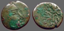 World Coins - India, Western Satraps. Rudrasena. AR13 Drachm