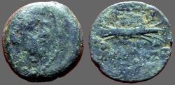 Ancient Coins - Antiochos IX his hd. rt. / Winged thunderbolt SG#7170.