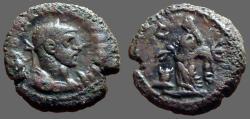Ancient Coins - Diocletian billon tetradrachm, Alexandria, Egypt. Eusebia sacraficing