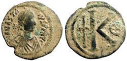 Ancient Coins - Anastasius I AE30 Half Follis.  Constantinople Mint