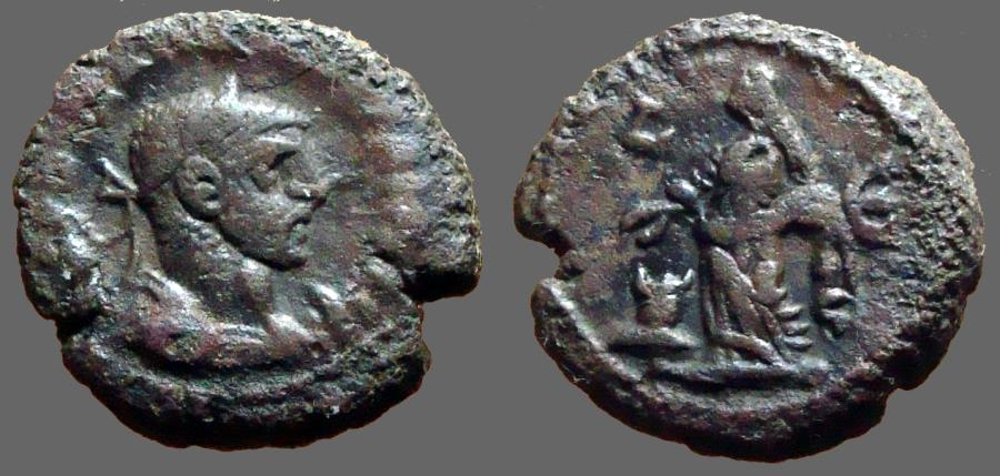 Ancient Coins - Diocletian billon tetradrachm, Alexandria, Egypt. Eusebia sacraficing