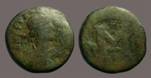 Ancient Coins - Justinian I AE23 small module follis, Constantinople