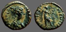 Ancient Coins - Aelia Flaccilla AE4 Salvs Reipvblice, Victory seated right, inscribing shield
