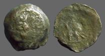Ancient Coins - Ptolemy VI AE15 Zeus Ammon / Double Eagle left.  Cyprus