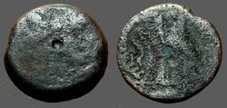 Ancient Coins - Ptolemy VI AE19 Zeus Ammon / Double Eagle left. Cyprus