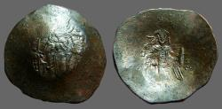 Ancient Coins - Isaac II, Angelus Aspron Trachy Billon Aspron Trachy, Constantinople
