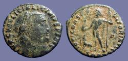 Ancient Coins - Licinius I AE21 Follis.  Jupiter stg w. Victory, eagle at feet