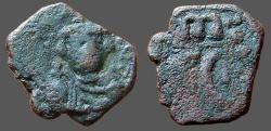 Ancient Coins - Constans II AE22 Follis.  large SC w. m above.  Syracuse.  SB#1103