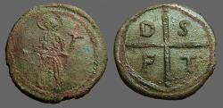 Ancient Coins - Tancred, Regent, Crusades AE23 Follis.