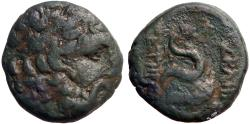 Ancient Coins - Mysia, Pergamon AE20 Asklepios / Serpent coiled on omphalos