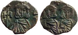 Ancient Coins - Constantine V & Leo IV / Leo III AE17 Follis. Syracuse