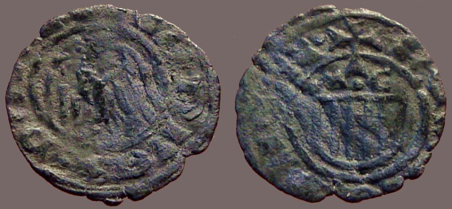 World Coins - Sicily  John II Billon Denaro 14mm