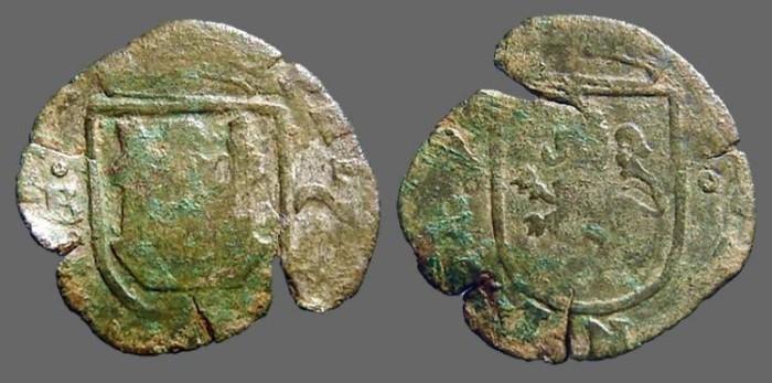 World Coins - Philip III AE24. 2 Maravedis.  Castle / Lion.  Burgos