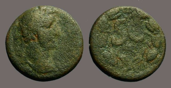 Ancient Coins - Antoninus Pius AE23, Antioch on Orontes, SC within wreath.