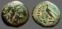 Ancient Coins - Ptolemy II Philadelphos AE19 Eagle on thunderbolt.  cliub.  tyre mint