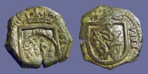 Ancient Coins - Philip III/IV 8 Maravedis.  Castle / Lion. countermarked