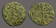 Ancient Coins - Aragon. Jaime II, Billon Dinero. Cross w. pellets.