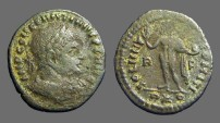 Ancient Coins - Constantine The Great AE20 Follis Sol holds globe