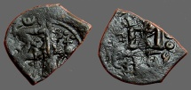 Ancient Coins - Fantastic overstruck AE20 Follis of Constans II