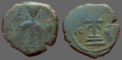 Ancient Coins - Manuel I AE Tetarteron Cross on steps