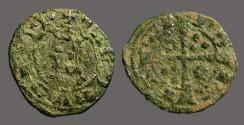 World Coins - Aragon. Jaime II, Billon Dinero. Cross w. pellets.