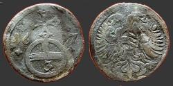 World Coins - German States, Silesia AR15 (3) Pfennig. Eagle w. shield / Globus Cruciger. 1697
