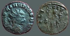 Ancient Coins - Claudius II Gothicus billon antoninianus.  Felicitas standing left, holding caduceus & sceptre