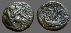 Ancient Coins - Phoenicia, Sidon. AE15  Tyche / Galley