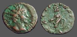 Ancient Coins - Tetricus I billon antoninianus Laetitia standing left, holding wreath & anchor
