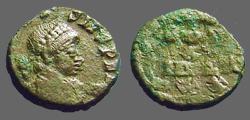 Ancient Coins - Arcadius AE4 (11mm) Vows in wreath,  VOT/X/MVLT/XXX.
