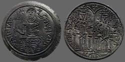 Ancient Coins - Hungary, Bela III.1172-1196  AE27 flat Denar