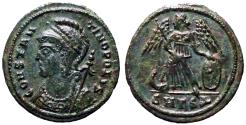 Ancient Coins - Constantinopolis AE3 Victory on ship's prow