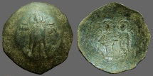 Ancient Coins - Andronicus AE28 Billon aspron trachy. Virgin / Christ & Andronicus
